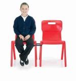 Krzesło jednoczęściowe z polipropylenu Titan 1