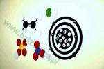Klasowy zestaw atomów do budowy cząsteczek wraz z tablicą