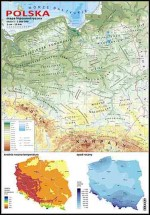 Polska - mapa hipsometryczna (skala 1:1 000 000)