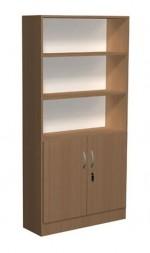 Regał biblioteczny proste półki i szafka - D