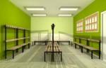 Ławka korytarzowa Classic 2-str. z oparciem i wieszakiem, długość 1m.