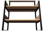 Regał jednostronny A o zwiększonej wytrzymałości półek, boki z płyty